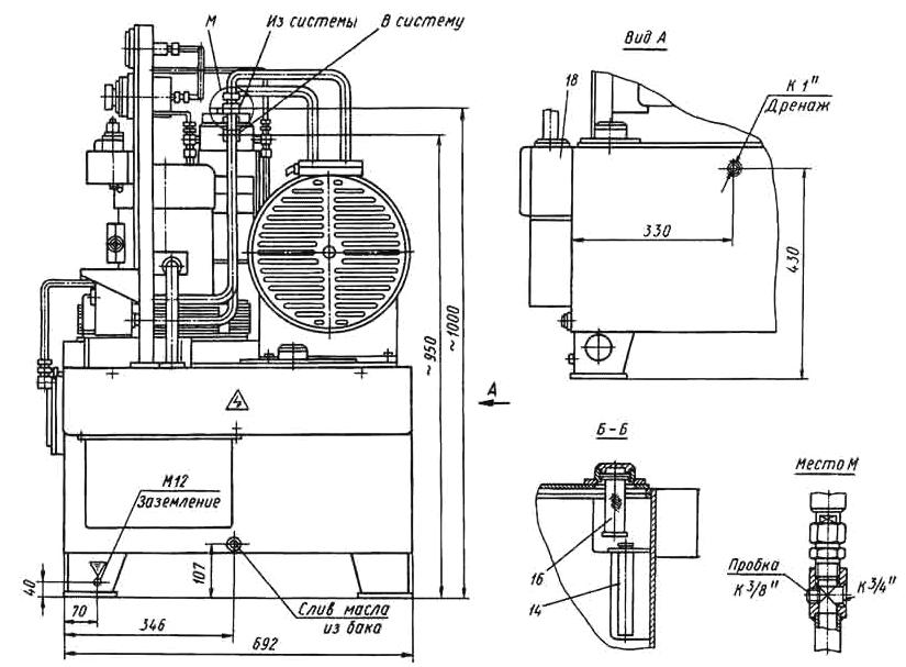 Гидравлическая схема насосной